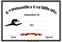 Gymnastics Certificate Template 7