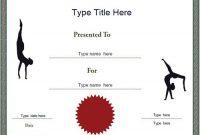 Gymnastics Certificate Template 8
