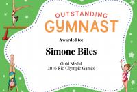 Gymnastics Certificate Template 9