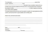Handover Certificate Template 6