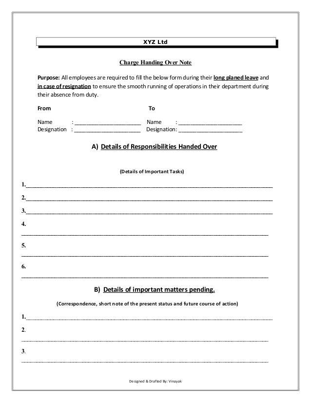 Handover Certificate Template 7