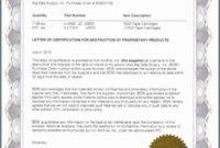 Hard Drive Destruction Certificate Template 10