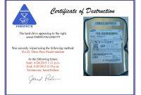 Hard Drive Destruction Certificate Template 2