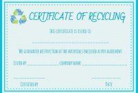 Hard Drive Destruction Certificate Template 5