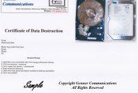 Hard Drive Destruction Certificate Template 7