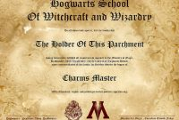 Harry Potter Certificate Template 10