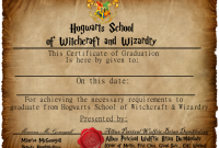 Harry Potter Certificate Template 2