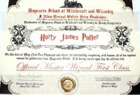 Harry Potter Certificate Template 3
