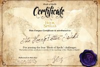 Harry Potter Certificate Template 4