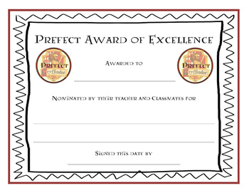 Harry Potter Certificate Template 6