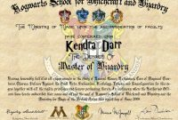 Harry Potter Certificate Template 7