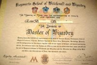 Harry Potter Certificate Template 9