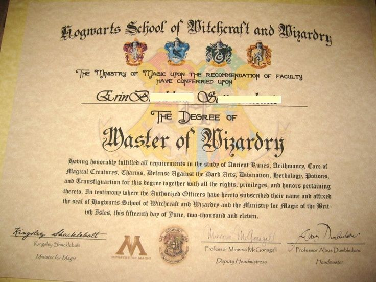 Harry Potter Certificate Template 9