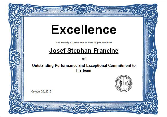High Resolution Certificate Template 2