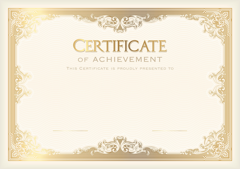 High Resolution Certificate Template 4