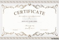 High Resolution Certificate Template 6