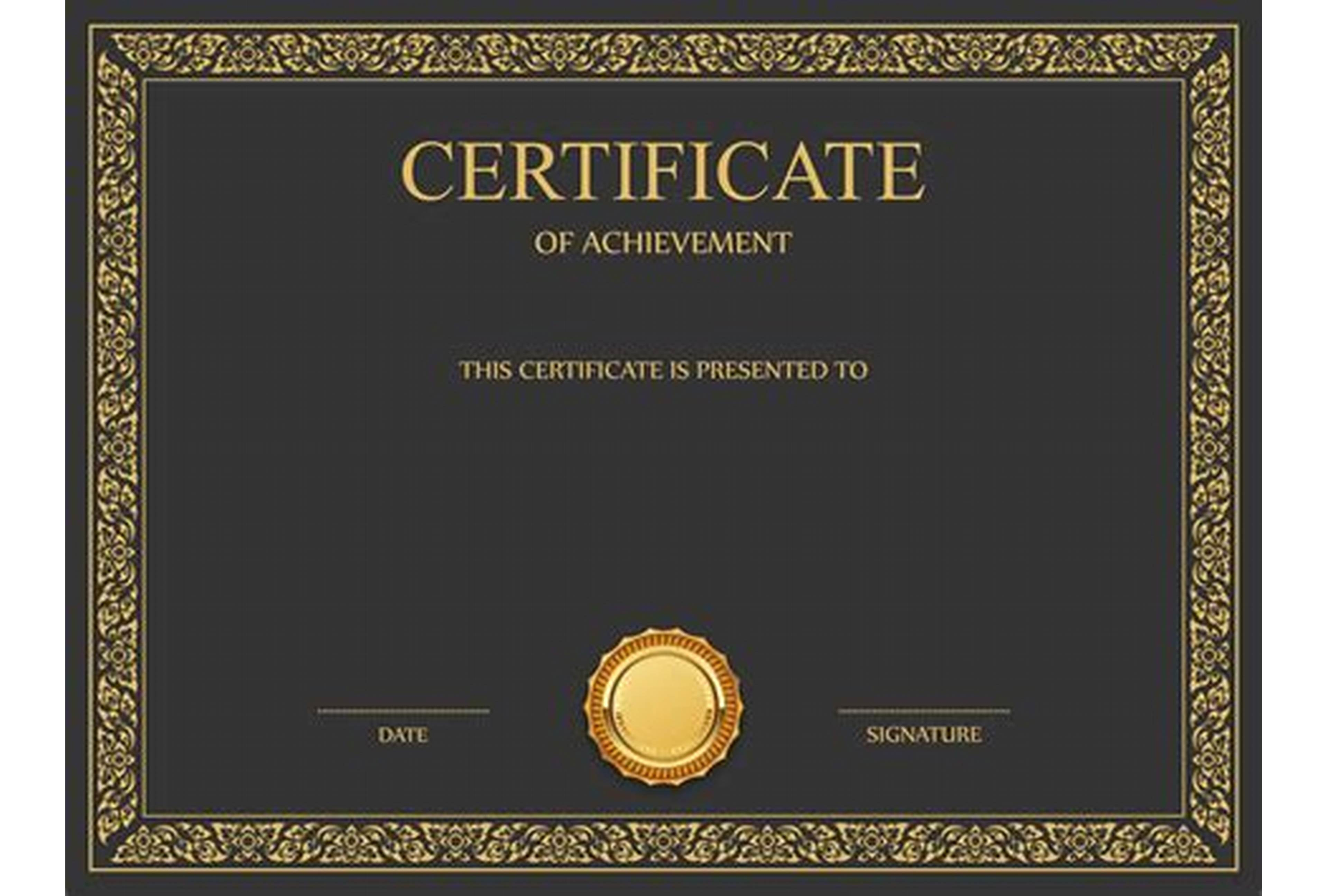 High Resolution Certificate Template 8