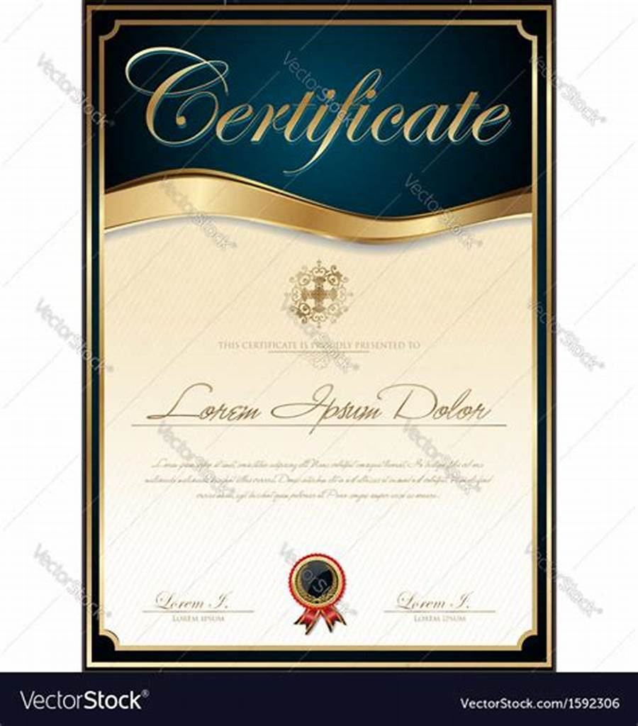 High Resolution Certificate Template 9