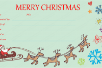 Homemade Christmas Gift Certificates Templates 11