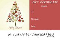 Homemade Christmas Gift Certificates Templates 13