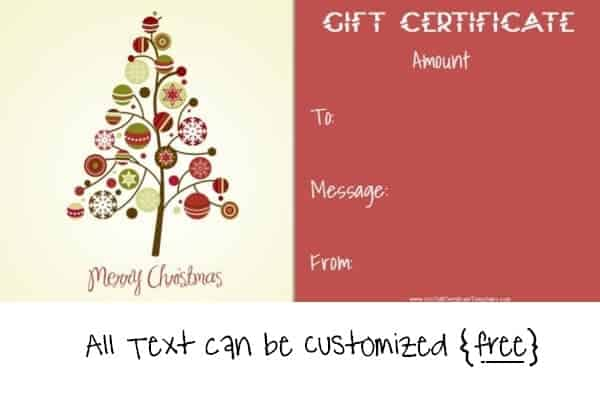 Homemade Christmas Gift Certificates Templates 13