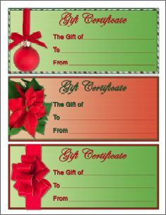 Homemade Christmas Gift Certificates Templates 2