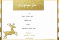 Homemade Christmas Gift Certificates Templates 4