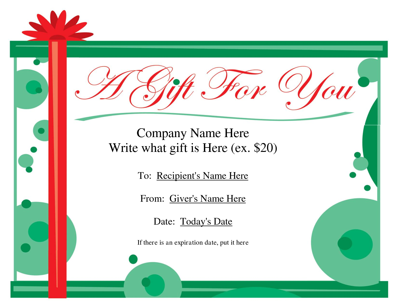 Homemade Christmas Gift Certificates Templates 5