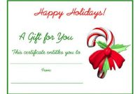 Homemade Christmas Gift Certificates Templates 6