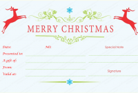 Homemade Christmas Gift Certificates Templates 7