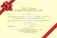 Homemade Christmas Gift Certificates Templates 8