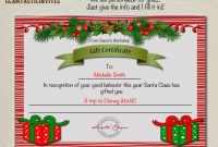 Homemade Christmas Gift Certificates Templates 9