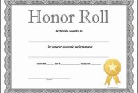 Honor Roll Certificate Template 3
