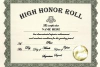 Honor Roll Certificate Template 4
