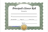 Honor Roll Certificate Template 5