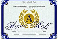 Honor Roll Certificate Template 6