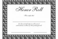 Honor Roll Certificate Template 7
