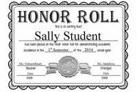 Honor Roll Certificate Template 8