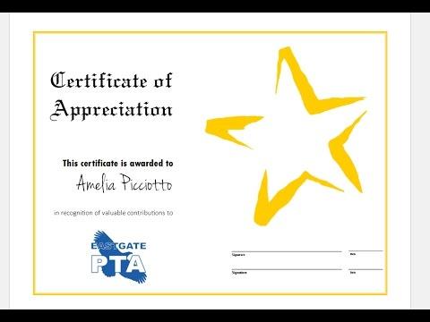 In Appreciation Certificate Templates 10