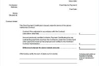 Jct Practical Completion Certificate Template 3