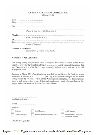 Jct Practical Completion Certificate Template 5