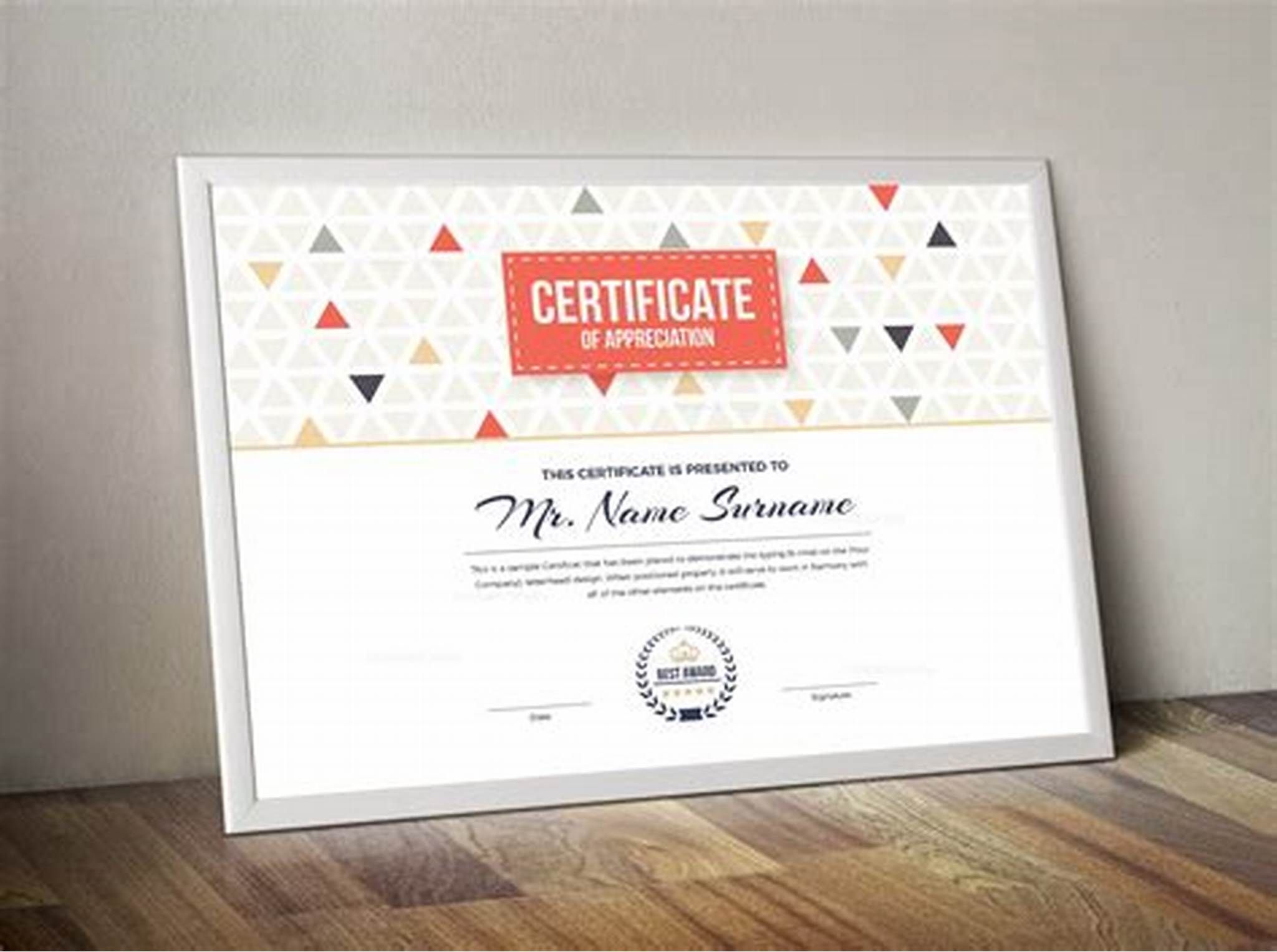 Landscape Certificate Templates 6