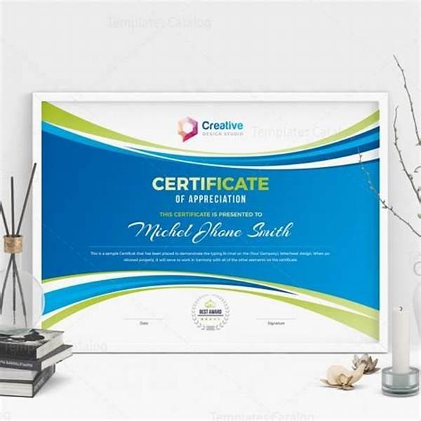 Landscape Certificate Templates 9