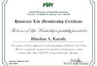 Life Membership Certificate Templates 0