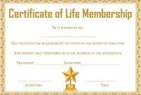 Life Membership Certificate Templates 2