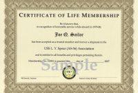 Life Membership Certificate Templates 3