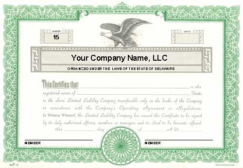 Llc Membership Certificate Template Word 10