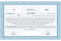 Llc Membership Certificate Template Word 2