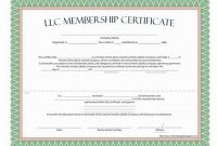Llc Membership Certificate Template Word 3