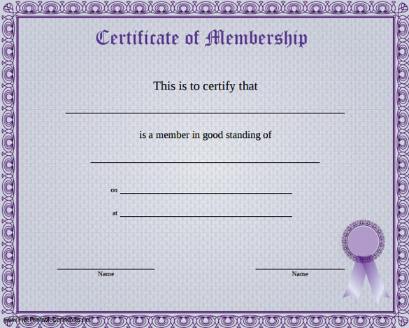 Llc Membership Certificate Template Word 7